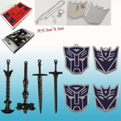Transformers Hot Cool Movie Pendant Anime Keychain+Necklace ( Set )