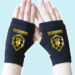 World of Warcraft Golden Lion Black Anime Comfortable Gloves 14*8CM