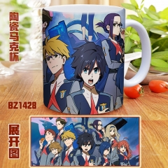 DARLING in the FRANXX Cartoon Color Printed Ceramics Anime Mug Cup