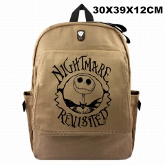 Nightmare Before Christmas For Student Cosplay Canvas Anime Backpack Bag