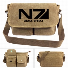 MASS EFFECT Game Crossbody Bags High Quality Anime Canvas Single-shoulder Bag