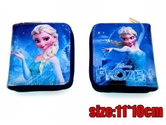 Frozen Movie Elsa PU Leather Cute Anime Cartoon Wallet