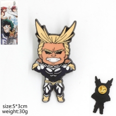 Boku no Hero Academia Cosplay All·Might Decoration Anime Brooch