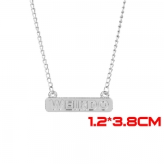 Riverdale Movie WEIRDO Jewelry Silver Anime Alloy Necklace 30g