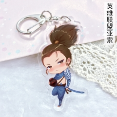 League Of Legends Game Yasuo Anime Cute Acrylic Keychain