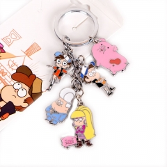 Gravity Falls Decorative Cosplay Pendant Cartoon Anime Keychain