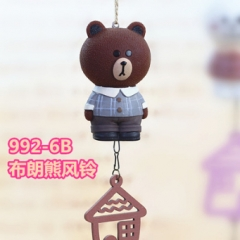 Line Bear Brown Vinyl Toy Anime Windbell Wind Chime