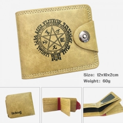 Hellsing Cartoon PU Purse Bi-fold Snap-fastener Anime Leather Wallet 60g