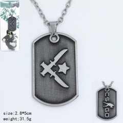 Counter Strike Popular Game Knife Pattern Anime Alloy Necklace