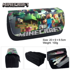 Minecraft Cartoon Pen Bag Wholesale Multifunctional Anime Pencil Bag For Student