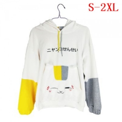 Neko Atsume Game Cosplay Fashion Cloth Print Cute Cat Pattern Long Sleeve Anime Hooded Hoodie