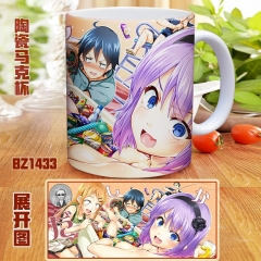 Dagashi Kashi Cartoon Color Printed Ceramics Anime Mug Cup