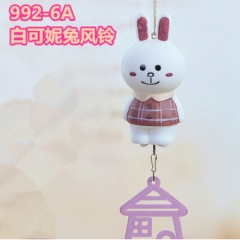 Line Bunny Cony Vinyl Toy Anime Windbell Wind Chime