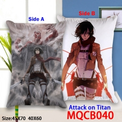 Attack on Titan Good Quality Cartoon Cosplay Two Sides Soft Anime Pillow 40*60CM