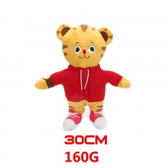 Daniel Tiger's Neighborhood Cartoon Stuffed Doll Tiger Model Anime Plush Toys 30cm 160g