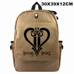 Kingdom Hearts For Student Cosplay Canvas Anime Backpack Bag