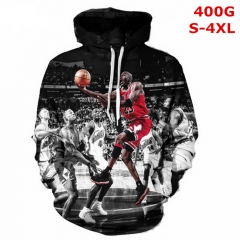 NBA Cosplay Basketball Star Michael Jordan Color Printing Anime Hoodie