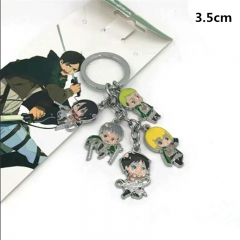 Attack On Titan Anime Cute Cartoon Fancy Alloy Cheap Kychain