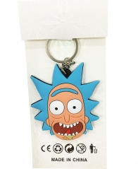 Popular Cute Rick And Morty Soft Plastic Funny Keychain  30g