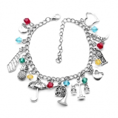 Alice in Wonderland Alloy Anime Bracelet (10pcs/set)