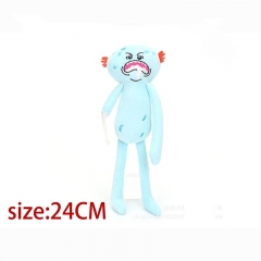 Rick and Morty Mr Meeseeks Cartoon Stuffed Doll Cute Anime Plush Toys 24cm