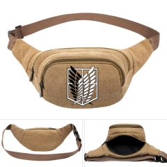 Attack on Titan /Shingeki No Kyojin Cosplay Cartoon For Boys Portable Anime Canvas Waist Bag