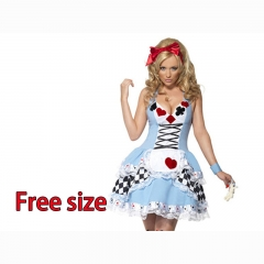 Alice in Wonderlan Cartoon Cosplay Wholesale Anime Costume