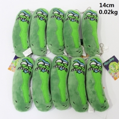 Rick and Morty Cucumber Pickle Cartoon Model Anime Plush Pendant 14cm