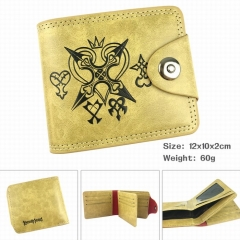Kingdom Hearts High Quality Cartoon Purse Wholesale PU Bifold Hasp Anime Wallet