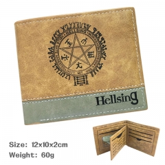 Hellsing Cartoon Purse Bi-fold Contrast Color Anime Short Wallet 60g