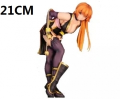 Dead or Alive KASUMI Hot Game Toys Wholesale Black Color Anime Figure 21CM