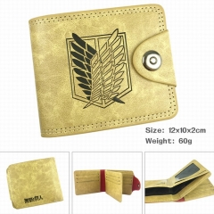 Attack on Titan Cartoon Purse Wholesale PU Fold Snap Anime Wallet