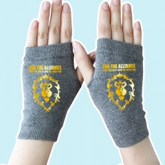 World of Warcraft Golden Lion Gray Anime Comfortable Gloves 14*8CM