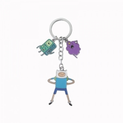 Adventure Time Cosplay Cartoon Pendant Anime Keychain