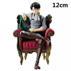 Attack on Titan Rivai·Ackerman with Sofa Sitting Posture Cartoon Anime Figure Toys 12cm