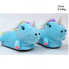 Japanese Cartoon Unicorn Anime Cute Soft Plush Kids Slipper