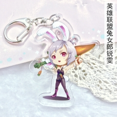 League Of Legends Anime Cute Girls Riven Acrylic Keychain 6cm