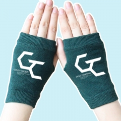 Super Power Cartoon Guilty Crown Half Finger Atrovirens Anime Knitted Gloves 14*8CM