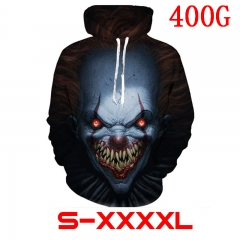 Stephen King's It Movie 3D Printed Sweatshirts Anime Hooded Hoodie 400g