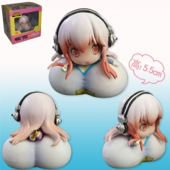 Super Sonico Mini Cute Big Chest Girl Toy Anime Figure