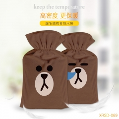 Line Bear Brown Cosplay For Warm Hands Anime Hot-water Bag