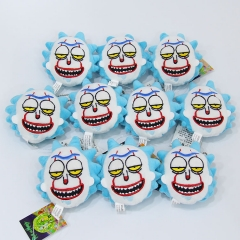 Rick and Morty Cosplay Doll Anime Plush Toy Pendant (10pcs/set)
