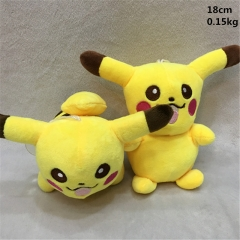 Japanese Cartoon Pokemon Anime Pikachu Lovely Stuffed Plush Toys 2pcs/set