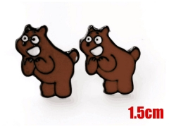 We Bare Bears Grizzly Cartoon Fashion Jewelry Wholesale Anime Earing 1.5CM