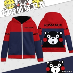 Kumamon Cosplay Cartoon with Brushes Thick Anime Hoodie (S-3XL)
