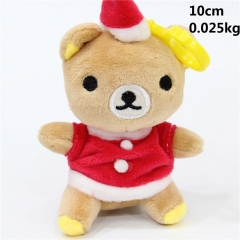 Rilakkuma Chrismas Designs Anime Cute Kids Gift Plush Pendants 10pcs/set