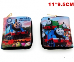 Thomas and His Friends Cosplay Cute Cartoon Folding Purse Anime Wallet