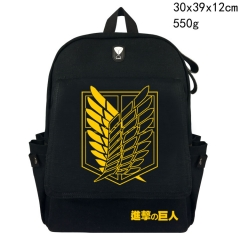 Cartoon Attack On Titan / Shingeki no Kyojin Anime Canvas Backpack Bag