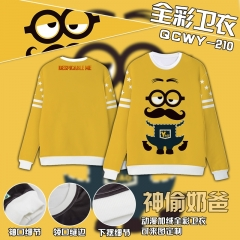 Despicable Me Cosplay Colorful Velvet Anime Hoodie
