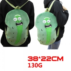 Rick and Morty Pickle Cucumber Cartoon Stuffed Bag Anime Plush Backpack 130g